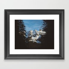 Rustic mountain Framed Art Print