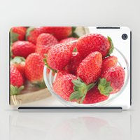 strawberry iPad Cases featuring strawberry by yumehana design fine art photography
