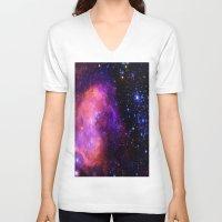 nebula V-neck T-shirts featuring NebUla. by 2sweet4words Designs