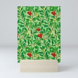 William Morris Lychee Tree Pattern, Light Jade Green Mini Art Print