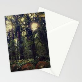 Sunrays in the Redwoods Stationery Cards