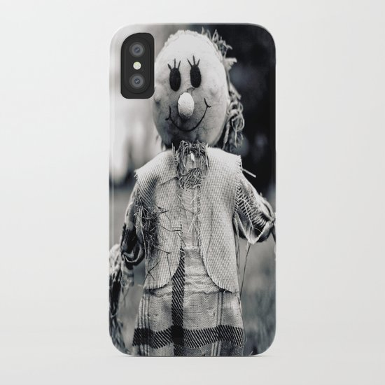 Cemetery smiley face iPhone Case
