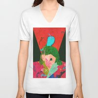 chile V-neck T-shirts featuring Escape to Chile by Alec Goss