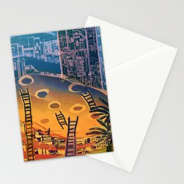 Time through Time, from Caves to Skyscraper, from Organic to Geometric Stationery Cards