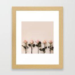 Just Rosey Framed Art Print