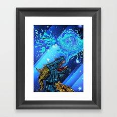 blue dragon fire artist Framed Art Print