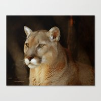 panther Canvas Prints featuring Panther by DiDi Higginbotham