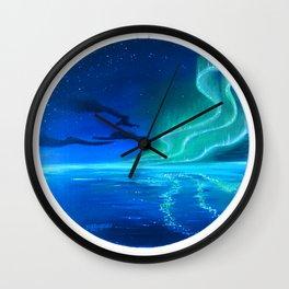 Green Aurora Wall Clock