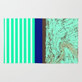 Marble, Teal and Navy Vignette Rug