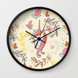 Vintage Dreams Unicorn Wall Clock