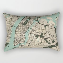 New York City Map of the United States - Vintage Rectangular Pillow