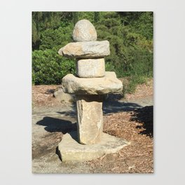 Kubota Garden rock sculpture Canvas Print