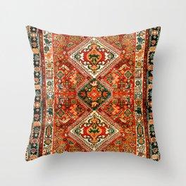 Qashqa'i Fars South West Persian Rug Print Throw Pillow