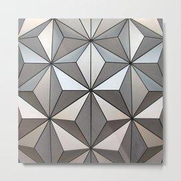 Geodesic Metal Print