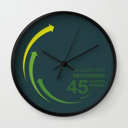 45rpm be.audio.fool Wall Clock