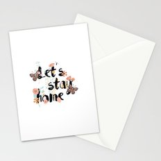Let's stay home 001 Stationery Cards