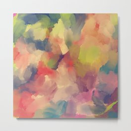 Painterly Abstract Colourful Art - Spring/Fall Floral Forest - Beautiful Colors Metal Print