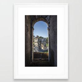 Italy - View from Colosseum Framed Art Print
