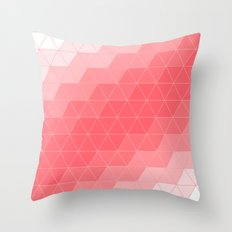 Triangle Coral Throw Pillow