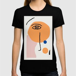 Feminist Line Drawing – Face Illustration | Blue and Nude | Modern Wall Art | Leaf Print | Feminist T-shirt