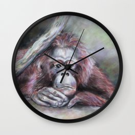 Big Red: Contemplating Wall Clock