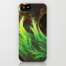 A Seaweed's DeepDream of Faded Fractal Fall Colors iPhone Case