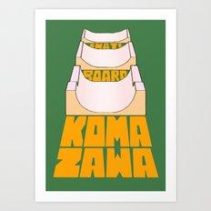 Komazawa Skatepark (Tokyo) Art Print