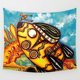 Rocket Bike Wall Tapestry