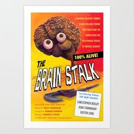 """The Brain Stalk"" Movie Poster Art Print"
