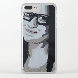 Self Portrait Clear iPhone Case