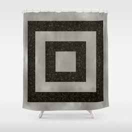 Silver Squares Shower Curtain