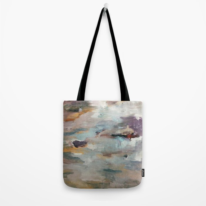 Gentle Beauty [3] - an elegant acrylic piece in deep purple, red, gold, and white Tote Bag