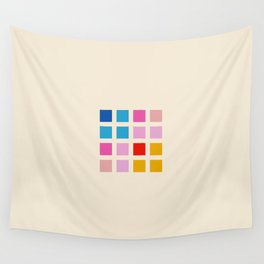 Retro Squares 01 Wall Tapestry