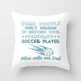 SOCCER DAD Throw Pillow