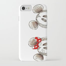 Mickey and Minnie Mouse.  iPhone Case