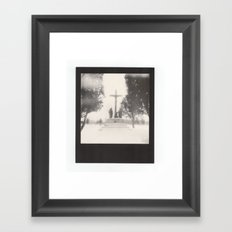 frozen cemetery... Framed Art Print