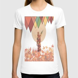 Flower girl and the moon T-shirt