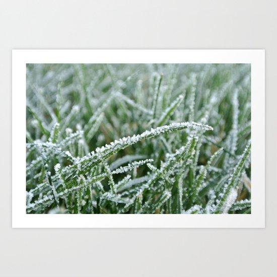 Icy Blades Art Print