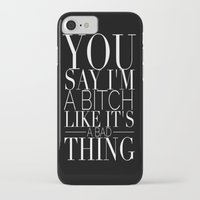 bitch iPhone & iPod Cases featuring BITCH by REASONandRHYME