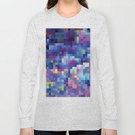 Purple Pixellation Long Sleeve T-shirt