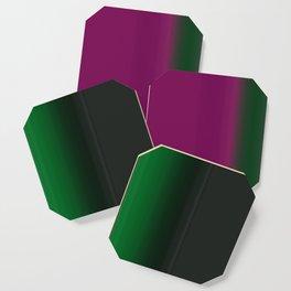 Emerald Green Ultra Violet stripes Coaster