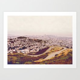 Misty Frisco (San Francisco sous la brume) Art Print