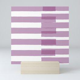 Big Stripes in Purple Mini Art Print