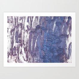 Rhythm abstract watercolor Art Print