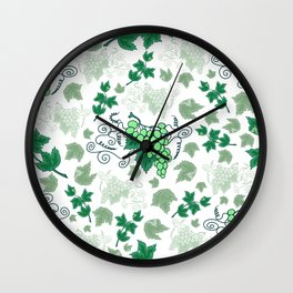 Bunches of grapes Wall Clock