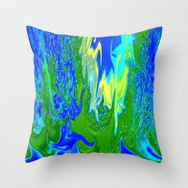 Here comes the waters.... Throw Pillow