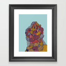 Head 54 Framed Art Print