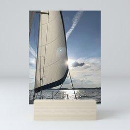 Sailing in GA Mini Art Print