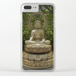 A Buddha in the Japanese Tea Garden, Golden Gate Park, San Francisco, California Clear iPhone Case