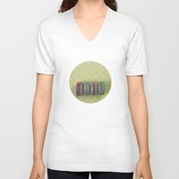 macaroons V-neck T-shirts featuring Sweets by Jessica Torres Photography